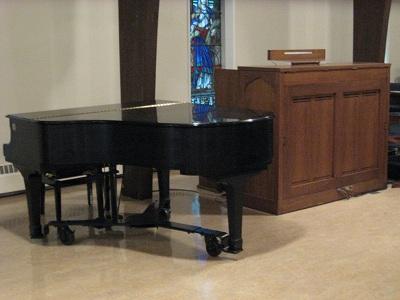 Organ and Yamaha Baby Grand Piano